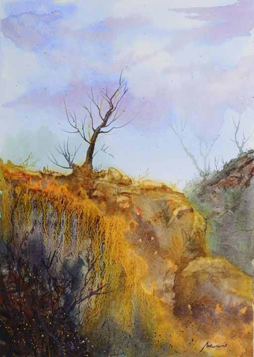 The old tree on the cliff - moreno-art