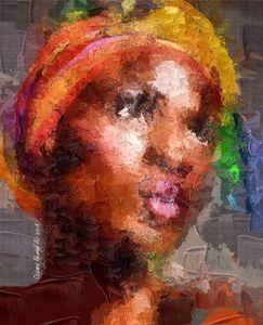 Afro Portrait