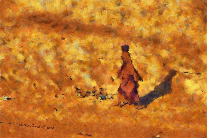 Simple Life - African Digital Art