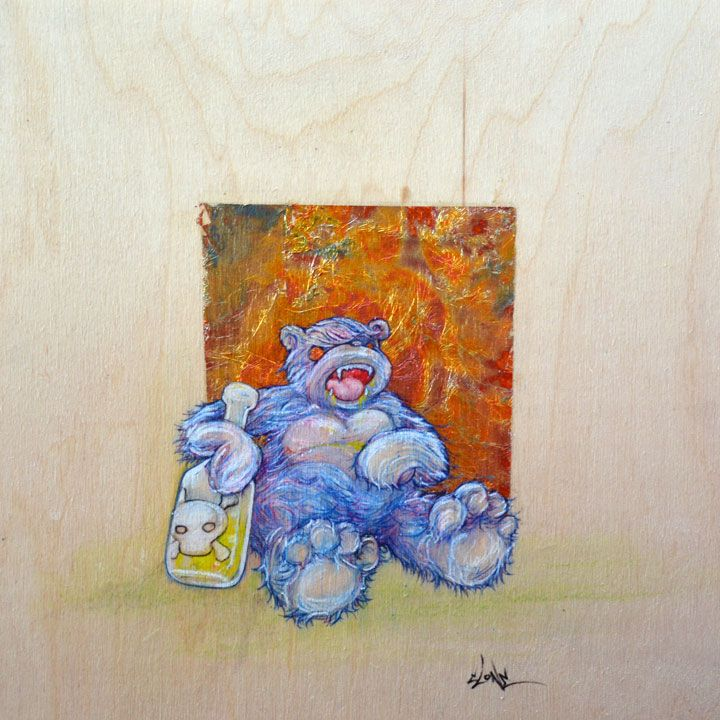 Drunkn' Bear - Art by Clone