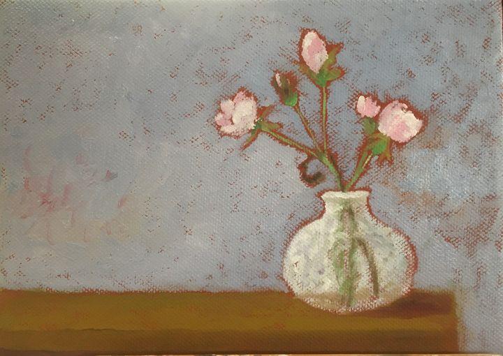 Roses in a Vase - John Mulberry art