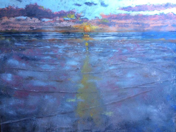 Sunset at Newgale - John Mulberry art