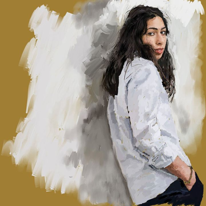 A portrait of Sara - Ian Banks Art