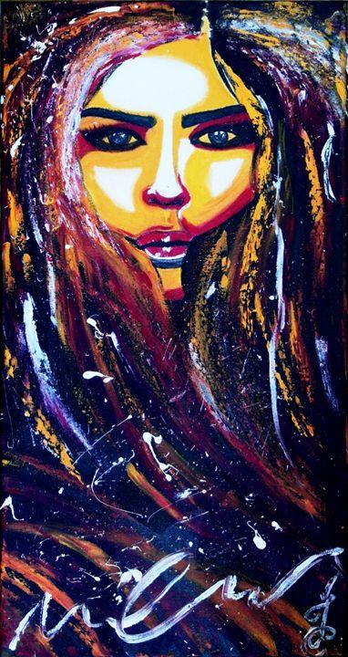 Oil Painting || her - harmony island || by cugaj