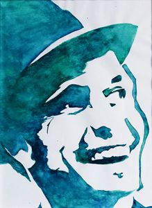 Frank Sinatra watercolor painting