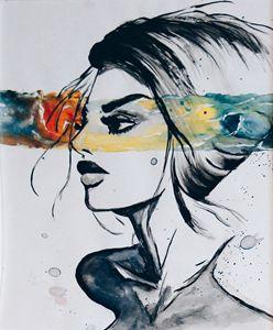 Watercolour Painting    oceanic eyes