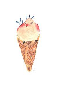 Drag Pride Ice Cream Peacock Cone