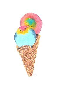 Pansexual Pride Ice Cream Birdies