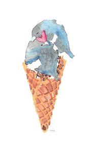 Leather Pride Ice Cream Birdie Cone