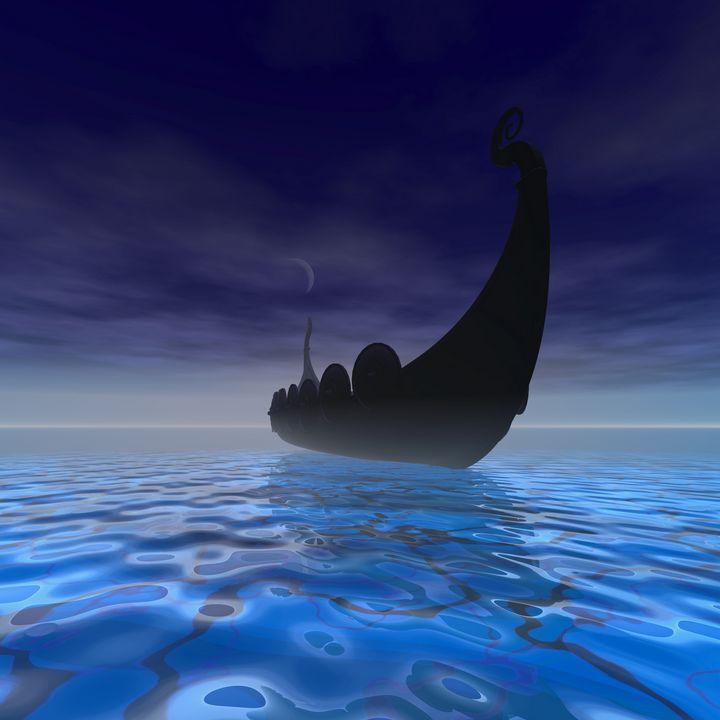 Viking Ship - Corey Ford Gallery LLC
