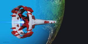 Alien Spacecraft over South America