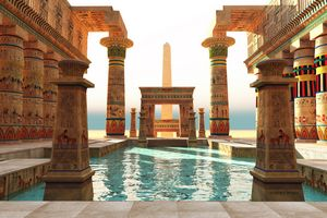 Egyptian Pool with Obelisk