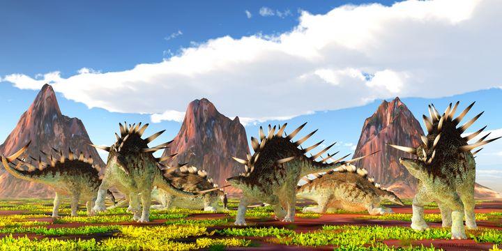 Kentrosaurus Herd - Corey Ford Gallery LLC
