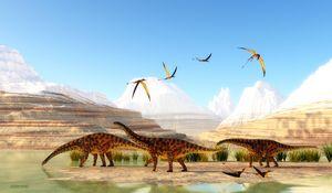 Spinophorosaurus Dinosaur Mountains