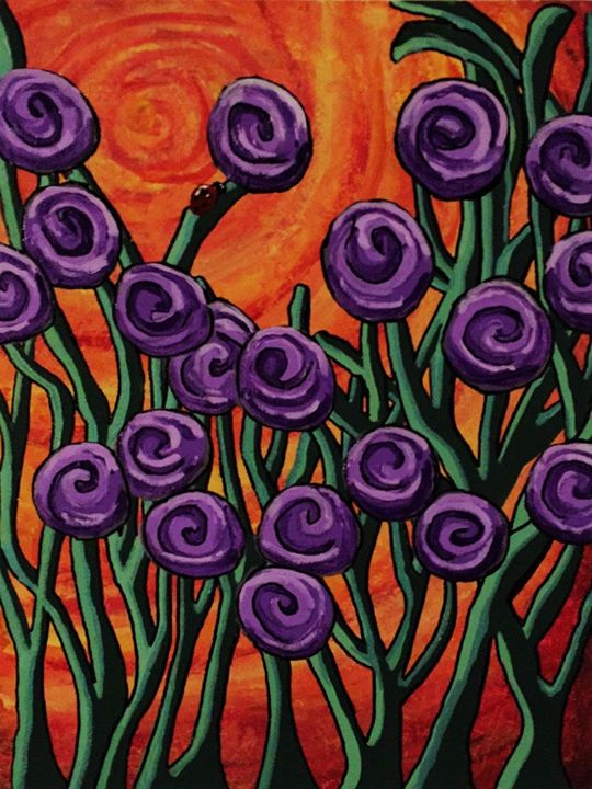 Purple Seuss Flowers - SLPeders