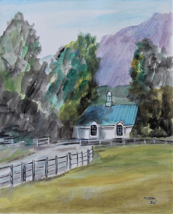 Little House in the Country - NanaGaleVan Fine Art