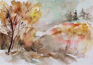 Watercolor landscape 1