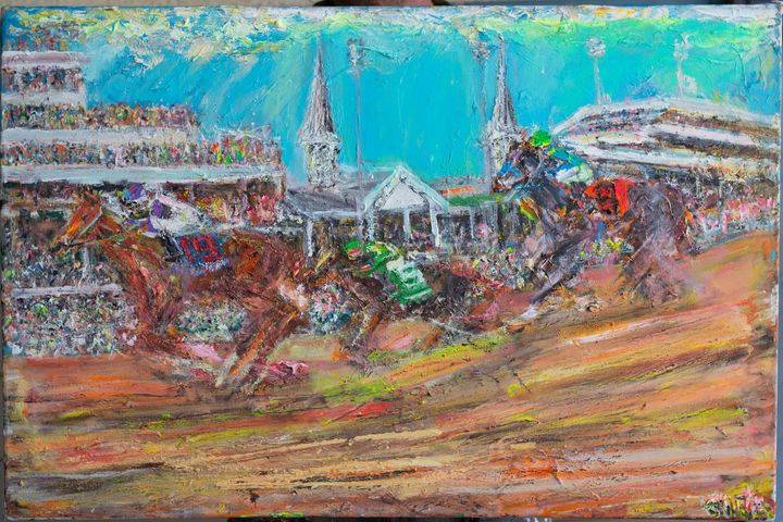 Kentucky Derby I'll have another - Art by Patrick