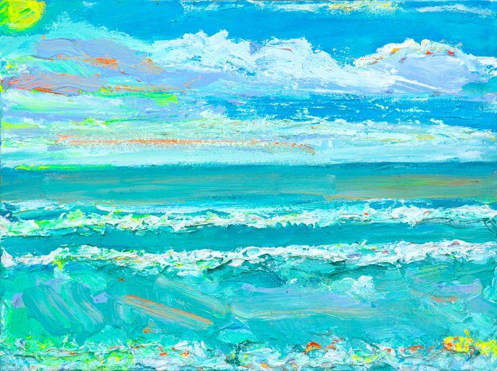 Del Mar Ocean waves afternoon sky! - Art by Patrick