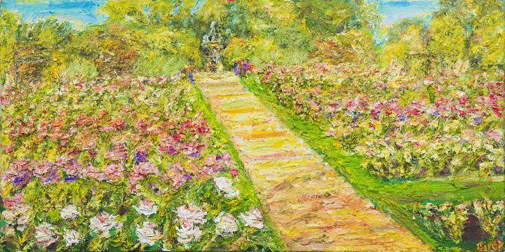 Lake Harriet Rose garden. - Art by Patrick