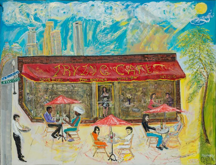 Irving Cafe Mural! - Art by Patrick