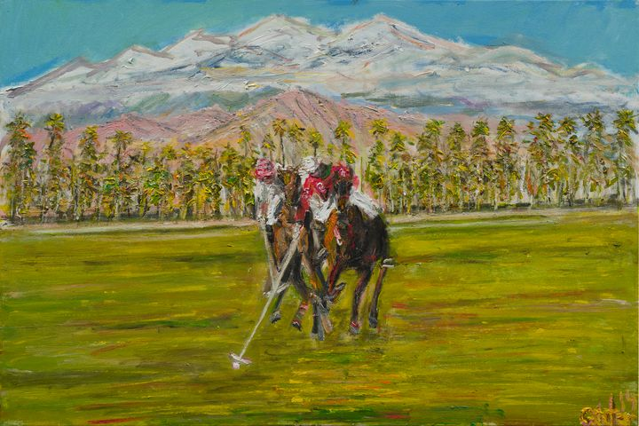 Polo Grounds Ocachella CA - Art by Patrick
