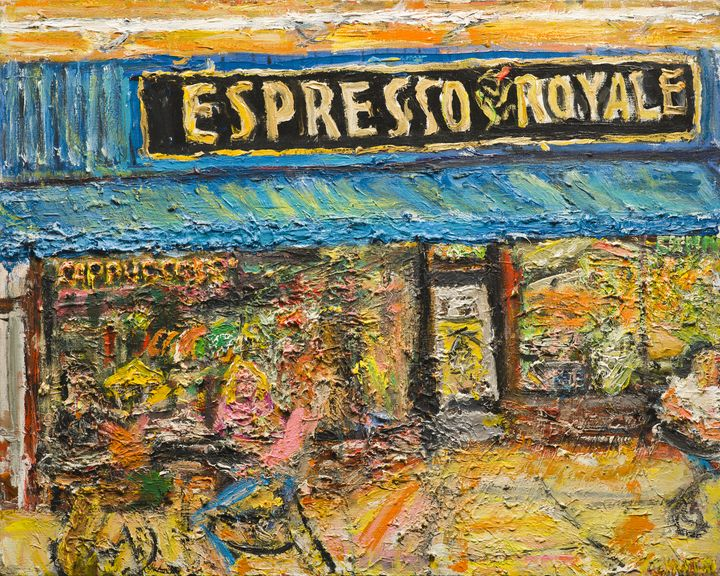 Dinky Town Expresso Royale - Art by Patrick