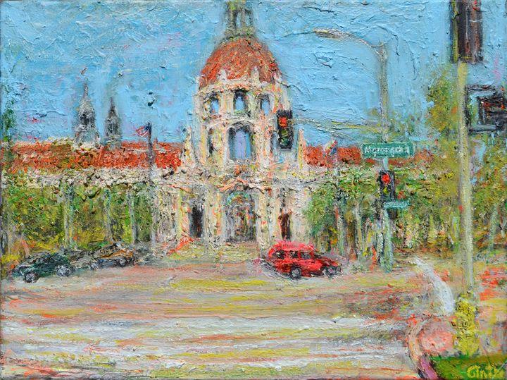 Pasadena City Hall - Art by Patrick