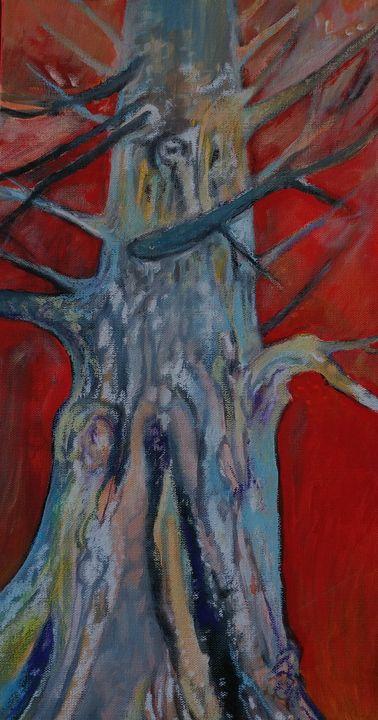 Orange Aura - Fluid Acrylic/Canvas - Larissa McLean - Passionstems At The Mill