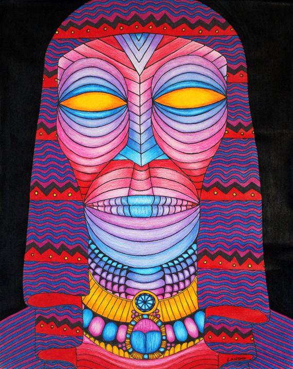 Psychedelic Egyptian - Lando Art