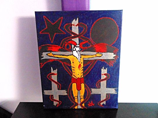 Nail Me To The Cross - Goat Christ - Demona Alexis Black Arts