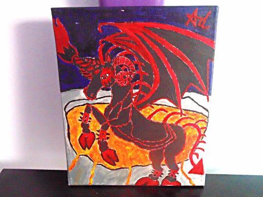 Demonic Pegasus - Demona Alexis Black Arts