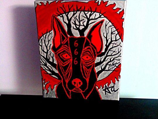 666 Demonic Beast Dog - Demona Alexis Black Arts