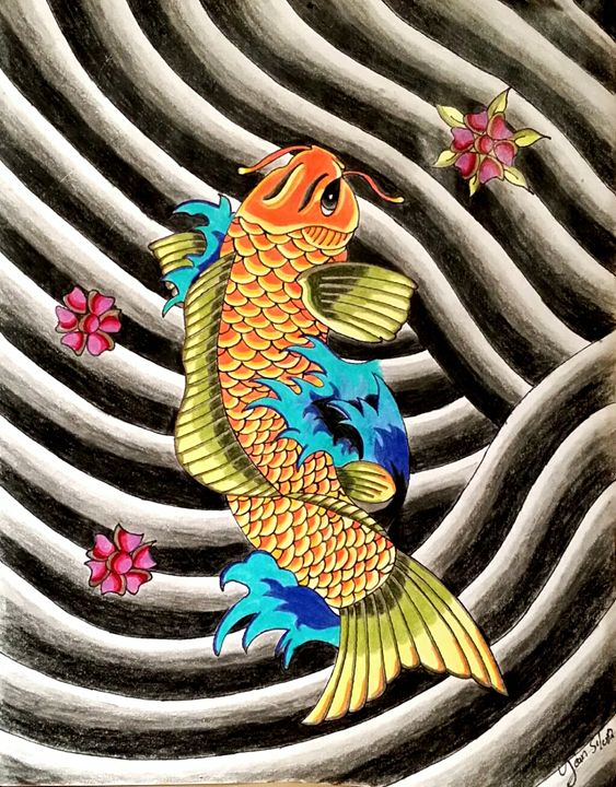 Koi fish - jean silva art.