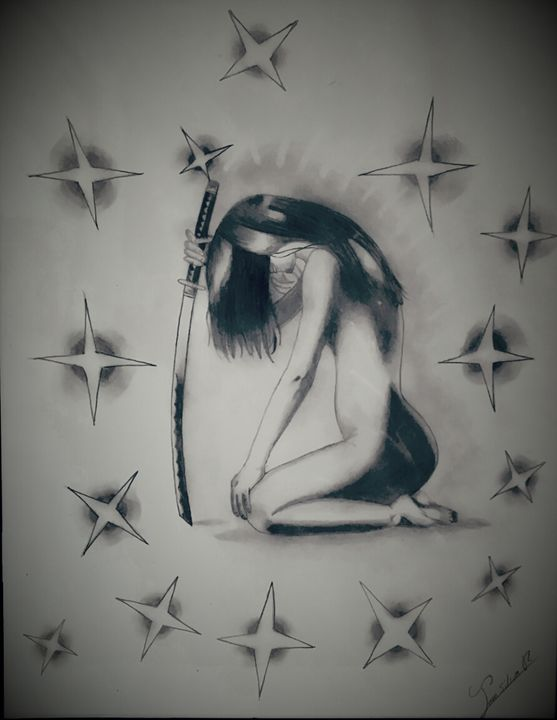 Samurai girl - jean silva art.
