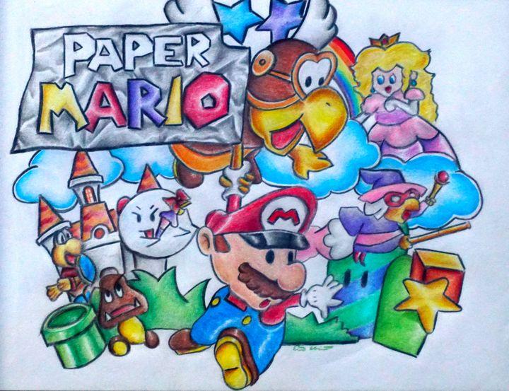 Paper Mario Aesthete Me Drawings Illustration Childrens Art