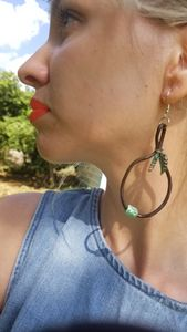 Leather Cord Drop Earrings