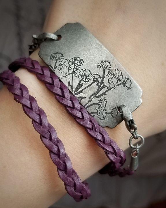 Rustic Flower Wrap-Around Bracelet - MintJulepLane