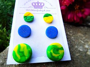 Stud Earring Set Of 3