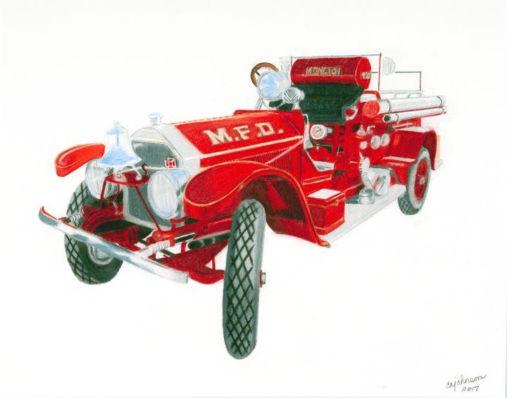 1920 Fire Engine - Carol Ann Johnson