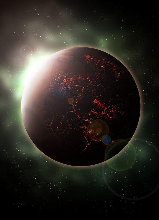 Erupting Planet - Morgyn Church