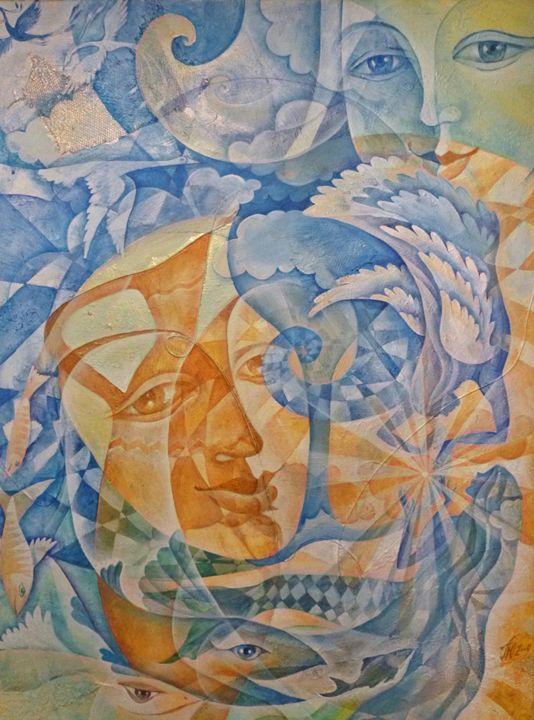 """Two Chalices""60 x 80, 2014 - Julia Pelikhova"