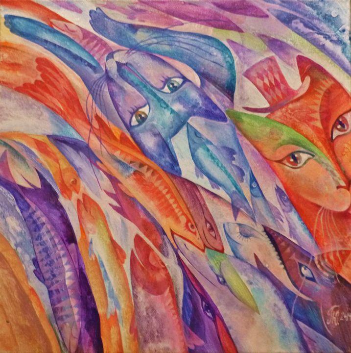 """Cat-dreams in Fish-streams"" - Julia Pelikhova"
