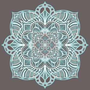 Grey and Teal Mandala