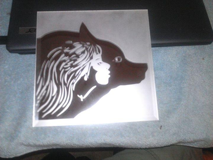 Mirror Sandblasting - Nievar Custom Airbrushing & Engraving
