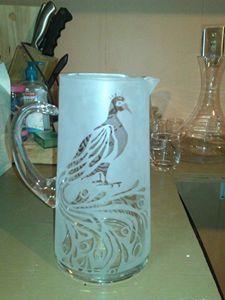 Glass Sandblasting - Nievar Custom Airbrushing & Engraving
