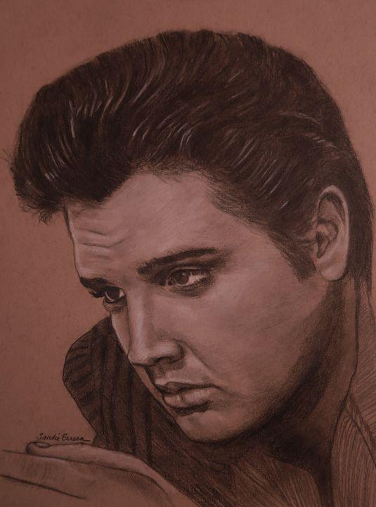 Elvis Presley in 1957 - Elvis Art by Sandie Erreca