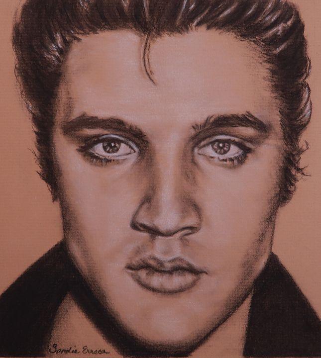 Elvis Eyes - Elvis Art by Sandie Erreca