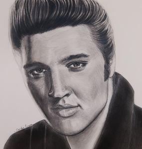 Elvis in Black