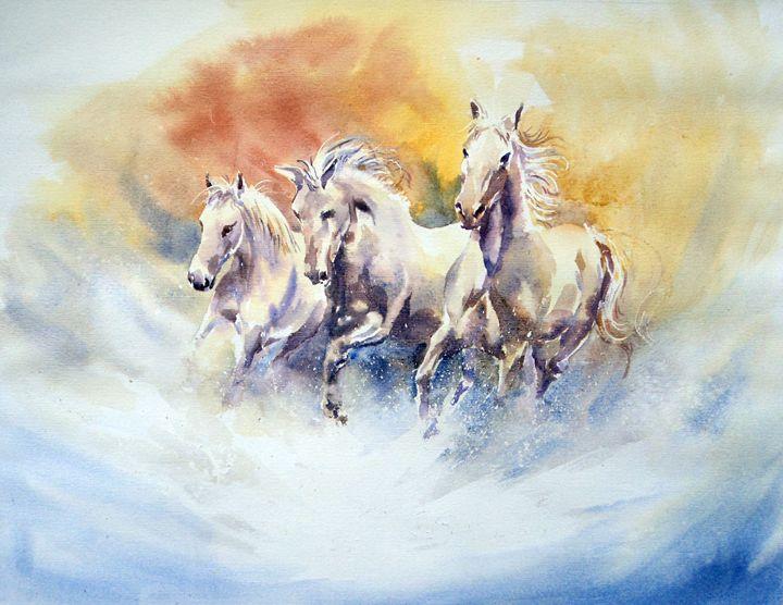 Running Horses - M Kazmi